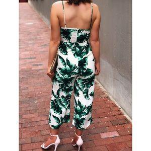 6e0bac377e5 Pants - Last 1✨🆕Lilith Palm Leaf Print Tie Front Jumpsuit